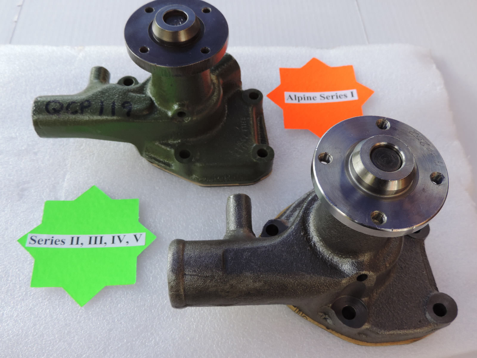 Sunbeam Alpine Water Pumps